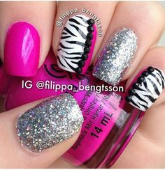 Pink and silver zebra
