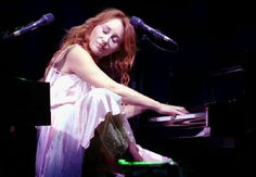 Tori Amos played the piano WITH HER TOES!!!! Now....THAT'S talent!