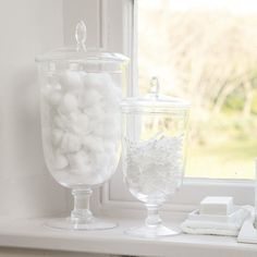 Buy Home Accessories > Glassware > Handmade Bon Bon Jar from The White Company