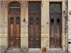 Old doors in Buenos Aires