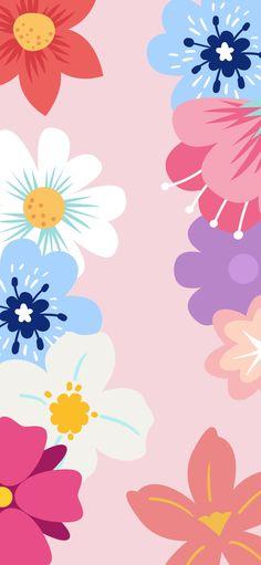 Simple Wallpapers, Cute Wallpaper Backgrounds, Wallpaper Iphone Cute, Cellphone Wallpaper, Pretty Wallpapers, Colorful Wallpaper, Girl Wallpaper, Pattern Wallpaper, Plant Wallpaper