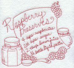 Raspberry Preserves (Redwork)