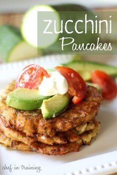 Zucchini Pancakes with avacado
