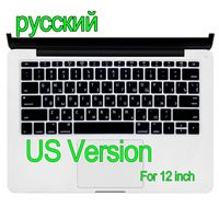 """Russian US Version Silicone Keyboard Cover Skin Protector For Apple MacBook film Air Retina 12"""" inch"""