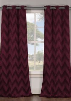 Duck River Textile Lysanna Stripe Blackout Curtain Set - Wine - 86 In Curtain Patterns, Blackout Curtains, Dream Bedroom, Living Spaces, Elegant Living Room, Curtains, Burgundy Curtains, Elegant Living, Pattern Curtains Living Room