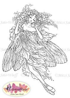 Instant Download - Digital Stamp - Ballet - Fairy - digistamp - Wisteria Wings Pointe - Fantasy Line Art for Cards & Crafts