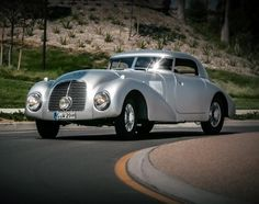 pinterest.com/fra411 #classic #car - 1938 Mercedes-Benz 540K Streamliner on exhibit at the Concours d'Elegance in Pebble Beach 2014