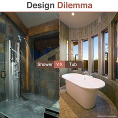 When it comes to #bathroomdesigns, the age-old question has been bathroom or tub. Which do you prefer? http://www.improvenet.com/g/bathroom-remodeling