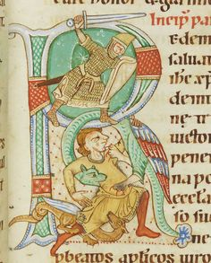 Wonderful late 12c helm, maile, helm, belt, kite shield, sword...Codex Bodmer 127 098 1170-1200
