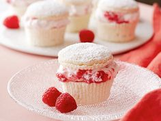 Raspberry Cream Cupcakes Recipe : Giada De Laurentiis : Food Network - FoodNetwork.com