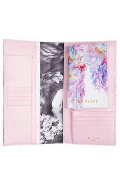 Ted Baker London 'Hanging Garden' Leather Travel Wallet & Passport Cover Set
