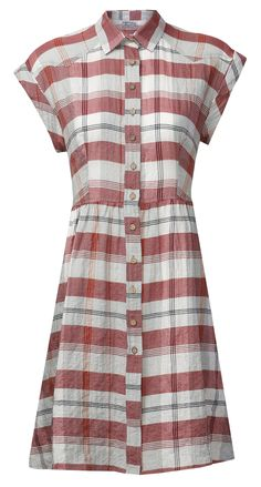 Gorgeous, check print dress with button fastening on the front section. Creates a beautifully unique look! Ethical Fashion, Slow Fashion, Wendy Dress, Fair Trade Fashion, Komodo, Fashion Brand, Organic Cotton, Women Wear, Short Sleeve Dresses