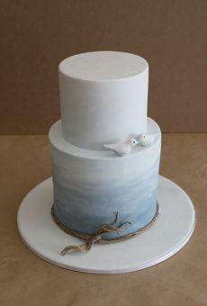 Brides: Beach-Themed Wedding Cakes