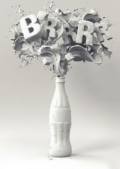 Typeverything.com - Coca Cola Brrr! by Mauricio... - 3D Typography Design Modelling