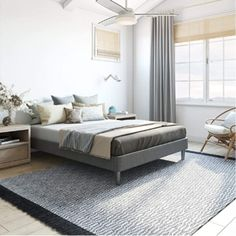 Lightweight and durable upholstered mattress foundation that can be used as a foundation or a platform bed frame Mattress Frame, Bed Frame And Headboard, Metal Platform Bed, Upholstered Platform Bed, Anthology Bedding, Wooden Slats, California King, Foundation, Queen