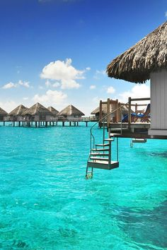Over water Bungalows with Steps into Lagoon | Luxury Beach Villas and Bungalows…