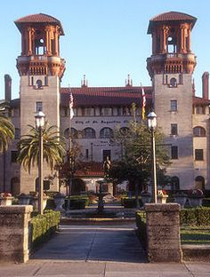Beautiful Flagler College was once in the 1800's a hotel for the extremely wealthy.