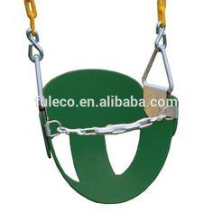 lindo verde grande calças em forma metálica de alta volta meio balde swing criança com cadeia revestido-imagem-Baloiços de Pátio-ID do produto:60099772519-portuguese.alibaba.com