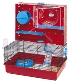 Makes me want to get a hamster It's too cool Ferplast Olimpia Syrian Russian Hamster Cage 579225