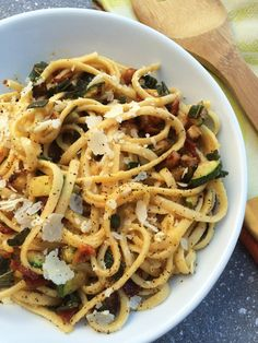 """Butternut Squash """"Carbonara"""" with Crisp Pancetta, Sage, and Zucchini Dinner Dishes, Pasta Dishes, Sage Recipes, Linguine Recipes, Sauces, Lunches And Dinners, Butternut Squash, Crisp, Zucchini"""