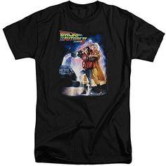 Back To The Future II Poster Mens Big and Tall Shirt Black XL @ niftywarehouse.com