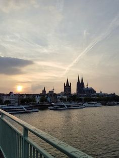 The Rhine in Cologne @ Sunset