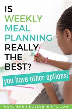 Is weekly meal plann