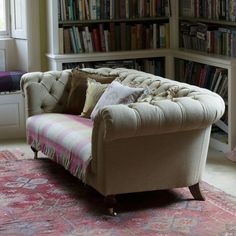Button Backed Chesterfield Sofa - Fabric Covered | Susie Watson Designs