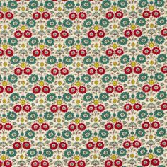 Your place to buy and sell all things handmade Red And Teal, Teal Green, Japanese Imports, Lawn Fabric, Green Flowers, Yard, Floral, Etsy, Patio