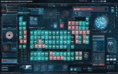 Iron Man 2 : Interface Design - periodic table by Prologue