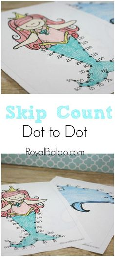 Practice skip counting with these fun and FREE dot to dot coloring pages