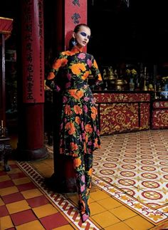 """Aneta Pajak in """"In The Flow of Vietnam"""" by Sonia Sieff for Air France Madame March 2017"""