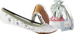 Fit In Clouds-Sequin Foldup Shoes