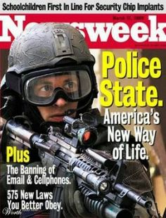 Police State - America's new 'normal' http://frontpagemag.com/2013/dgreenfield/social-breakdowns-swat-nsa-and-the-police-state/