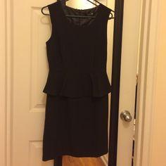 Forever 21 black peplum dress. Forever 21 black peplum dress. Back zipper closure. Size Small. Only wore it once.  Super cute! Forever 21 Dresses