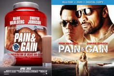 Look at the awesome poster art for PAIN AND GAIN. The DVD art was also used in one of the theatrical posters, but somehow it just doesn't work.