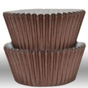 Solid Brown Cupcake Liners - $3.75 for 50 count