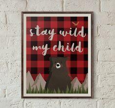 Babyshower de leñador invitación bosque oso por IndigoAndOrion