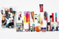 Each mixed lot of CoverGirl Cosmetics contains Nail Polish, Eyeshadow, Lipstick, Mascara, Eyeliner, Lip Liner, Loose Bronzer, Lip Gloss, Foundation and Eyeshadow Cream assorted and in different quantities.