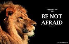 Be not Afraid - Lion of God! www.anthonydestefano.com