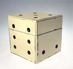 Distressed 4.25 In Dice Cube Hinged Lid Decorator Box #Unbranded #PopArt