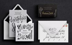 Victoria & Sasha / letterpresses wedding invites by Victoria Macey #letterpress #wedding #print