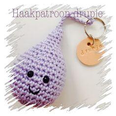 Sjun! Kado & Workshops: #haken, gratis haakpatroon, Nederlands, amigurumi, sleutelhanger, drupje (makkie!!), #haakpatroon, waterdruppel, emoticon