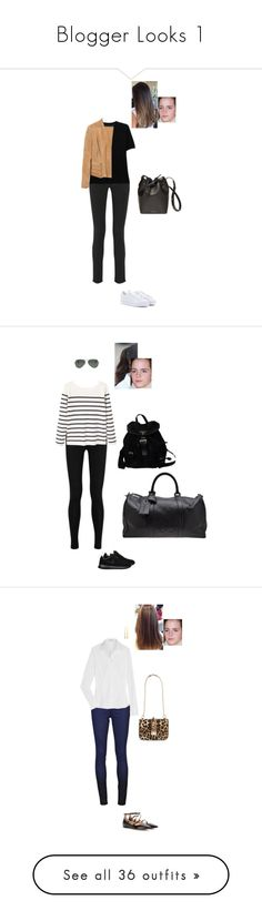 """Blogger Looks 1"" by gracebeckett ❤ liked on Polyvore featuring M Missoni, Joseph, Balmain, adidas, Donna Karan, NIKE, MANGO, Ray-Ban, Prada and Chanel"