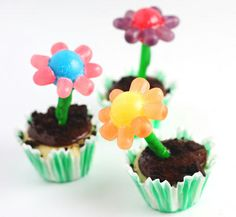 Potted-Flower Cupcakes | Babble