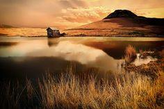Devoke Water Small Lake, Cumbria, Lake District, Art Photography, National Parks, Dusk, Clouds, Reflection, Sunrise Landscape