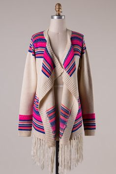 Bold and gorgeous! $42 and FREE ship. http://www.sidelinesass.com/collections/outerwear/products/bright-lights-of-the-city-cardigan?variant=7195741892