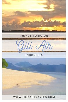 Gili Air Island in Indonesia is a low-key and relaxing island with not a whole lot going on. Sit back, relax, soak up the views, and enjoy the slow pace of living in Indonesia's laid-back Gili Islands. Most Beautiful Beaches, World's Most Beautiful, Gili Air Island, Asia Travel, Travel Tips, Komodo Island, Underwater World, Beautiful Islands, Low Key