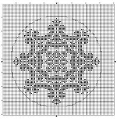 Round 10 | Free chart for cross-stitch, filet crochet | Chart for pattern - Gráfico