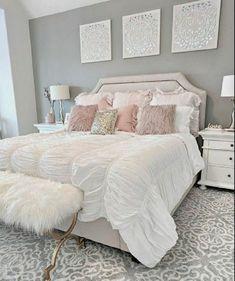 Girls Bedroom Colors, Girl Bedroom Designs, Bedroom Color Schemes, Room Ideas Bedroom, Master Bedroom Design, Home Decor Bedroom, Girl Bedrooms, White Bedroom Furniture Modern, Bedroom Decor Elegant